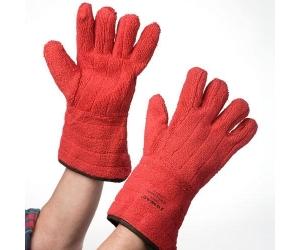 Hitze- / Flammfeste Handschuhe, rot, verstärkt